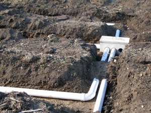Distribution Box And Header Pipes Indiana Septic System