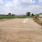 Mound System Ready to Be Covered.  Gravel Bed is Convered With Geo-textile Fabric